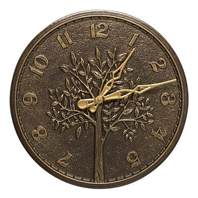 BestNest Whitehall Tree of Life Clock & Thermometer Kit, French Bronze