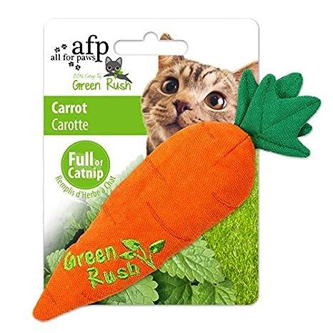 All for Paws Juguetes para Gatos Green Rush Catnip , Zanahoria, 17 cm: Amazon.es: Productos para mascotas