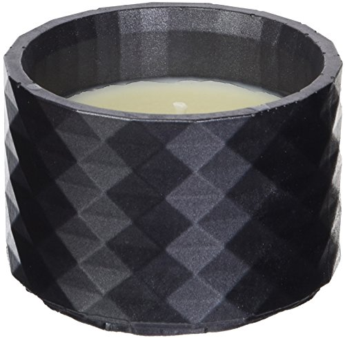 Candellana Candles Candlefort Concrete Poly I-Black Metallic, Scent: for Him