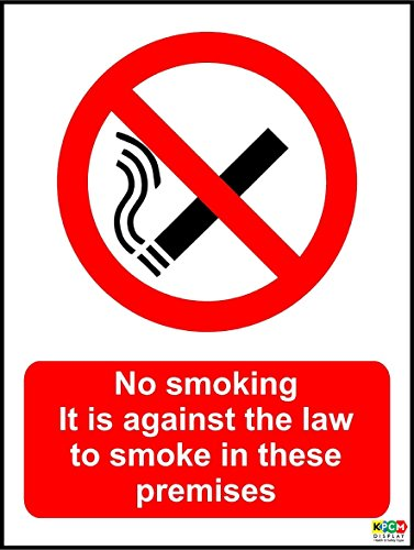1 NO SMOKING 3mm RIGID SIGN 200mm x 150mm A5 Brushed Stainless effect v001