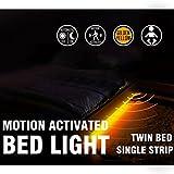 LED Motion Activated Bed Light Motion Sensor Night Light Emotionlite Led biasing Lighting Strip with Automatic Off Warm White 1600K(Under Bed Cabinet Hallway Dark Corner)