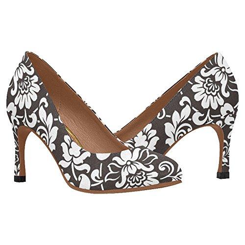 InterestPrint Womens Classic Fashion High Heel Dress Pump Shoes Multi 6