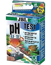 JBL pH 6,0-7,6 Test-Set, Test rapide pour déterminer le pH dans les aquariums d'eau douce, Plage 60-76