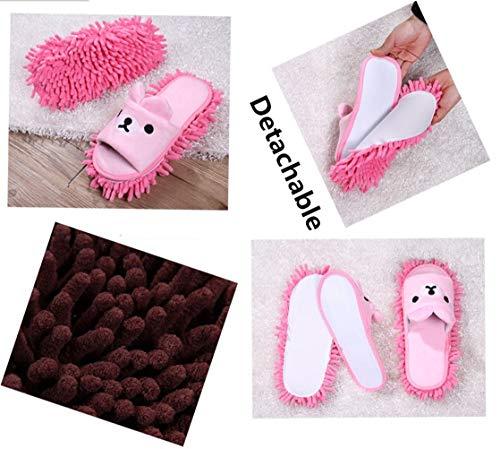 Pantofole Yeying123 pink Microfibre amp; Lavabile Pet Pavimenti Legno Beige Per Animal Duster Con Mop In Ecc Suole Pulizia s Attirare Piccolo Casa Scarpe Hair Piastrelle Orso Rimovibile Lint rA4rwf