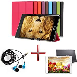 """XMY Colour Brown Hard Leather Cuero Case Cover cubierta de la caja +Film +Headphone Auricular por 8"""" Asus Zenfone S 8.0 Z580C Tablet new"""