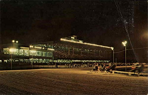 Scarborough Downes Harness Racing Scarborough, Maine Original Vintage Postcard