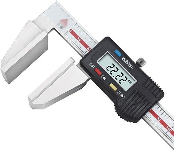 Ba30DEllylelly Elektronische Digitalanzeige Messschieber 0-150 MM Gro/ßer LCD-Bildschirm Digitales Direktlesen aus Kunststoff