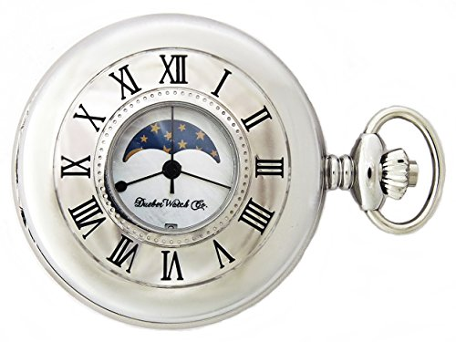 Dueber Moon Phase Pocket Watch with Swiss Movement & Mother of Pearl Dial by Dueber Watch Co (Image #1)