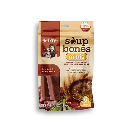 Rachael Ray Nutrish Soup Bones Minis Dog Treats, Beef & Barley Flavor, 4.2oz, Pack of 8
