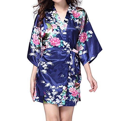Navy Blue Silk Dress - 7