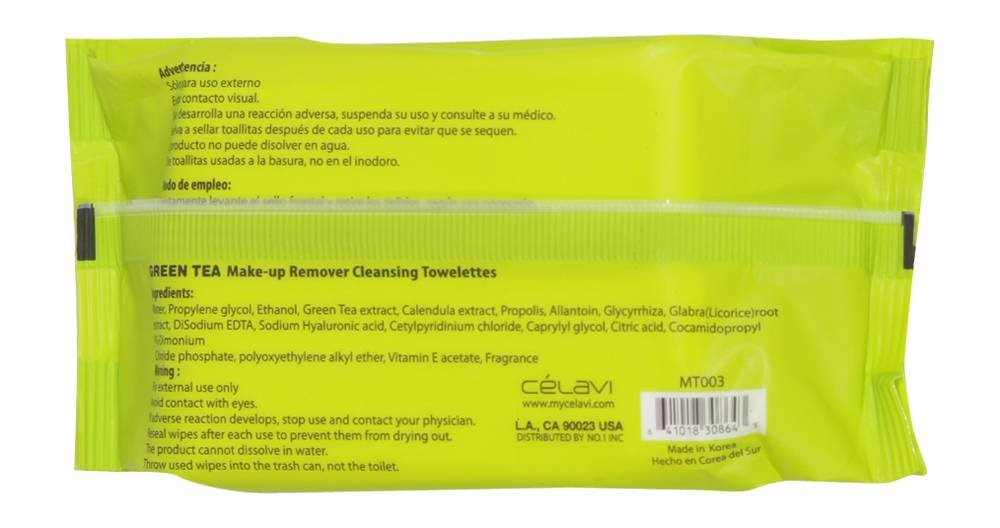 BEAUTY TREATS Makeup Remover Cleansing Tissues - Green Tea by Beauty Treats: Amazon.es: Belleza