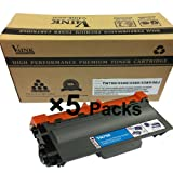 5 Pack V4INK ® New Compatible Brother TN750 Toner Cartridge for Brother HL-5400 Series/HL-6100 Series/DCP-8110 Series Toner Printers, Office Central