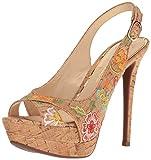 Jessica Simpson Women's Willey Heeled Sandal, Natural Multi, 8 Medium US