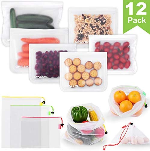 Reusable Food Storage Bags Containers