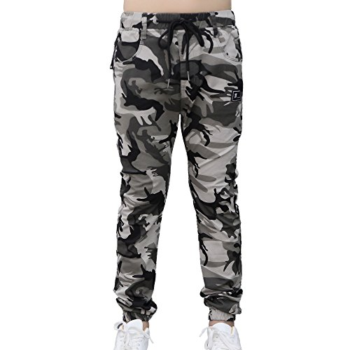 CNMUDONSI Boys Pull On Drawstring Jogger Pants Long Casual Camouflage Cuff Jogging Bottoms (Youth Camouflage 6 Pocket Pants)