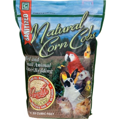 Absorbtion Corp Pet Products Natural Corn Cob Purelite Litter, 1.33 Cubic Feet, Green, My Pet Supplies