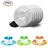 Happypapa Cat Fountain Filters 6 Pack Activated Carbon Filter Keeps Water Clear and Tasty Encourages Cats and Dogs to Drink More to Stay Healthy and Hygienic