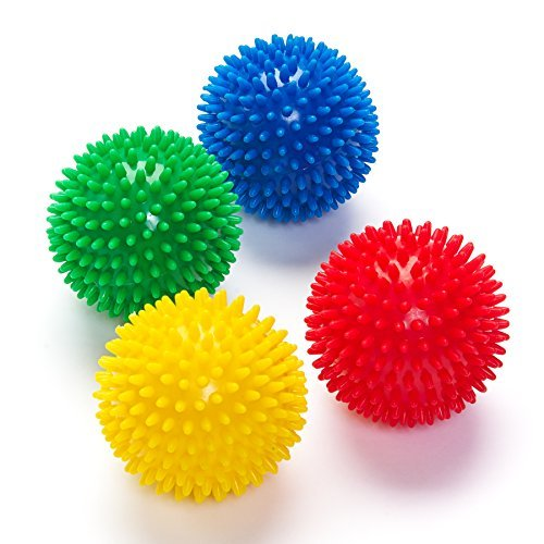 Black Mountain Products Deep Tissue Massage Ball with Spikes Combo