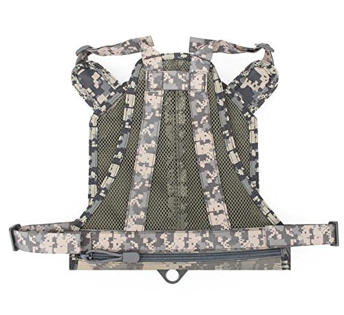 Myheartgoon Nylon mesh Adjustable Dog Vest Harness Training Tactical Molle Dog Vest with Handle