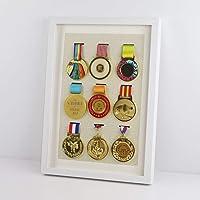 ZHXY Caja expositora Insignias Caja exhibición medallas Caja