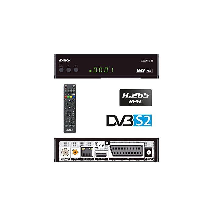 51fKBmksVPL Haz clic aquí para comprobar si este producto es compatible con tu modelo Full HD receptor de satélite (DVB-S2) libre para todos canales digitales de radio & programas TV La Piccollino le ofrece conmutación rápida, Full HD y LAN