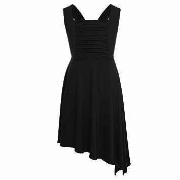 43c9f4190 iiniim Girls Lyrical Dance Costume Dress Criss-cross Back ...