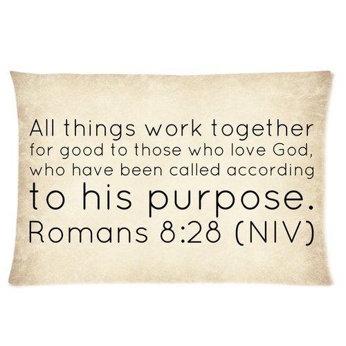 Fashion Custom Bible Verse – Romans Rectangle Pillow Case 16×24 (one side)