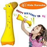 NeWisdom Magic Kids microphone, Best birthday gifts christmas 2017 kids toy bluetooth wireless toddler microphone for Children 0 - 2 year, karaoke machine toy for 3- 12 year old – Giraffe