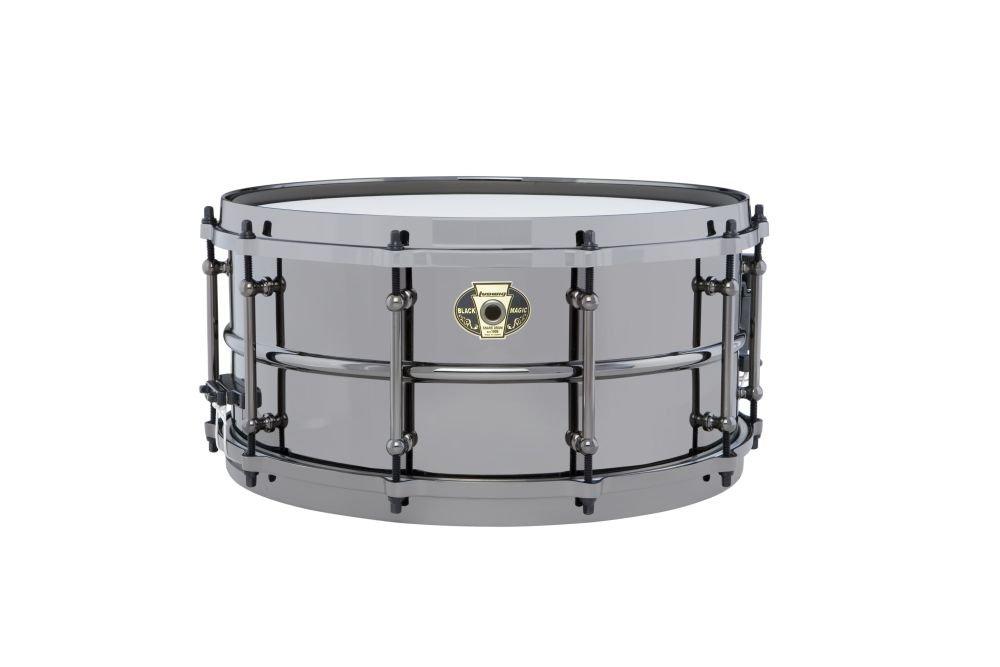 Ludwig Black Magic Snare Black 6.5X14 by Ludwig