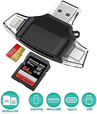Lector de tarjetas, lector de tarjetas SD Micro Lector de ...