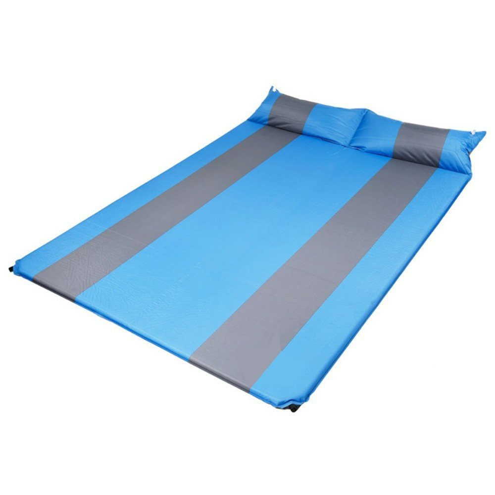 Showher Two Person 75.5'' Comfort Self Inflating Camp Pad with Pillow - Perfect Sleeping Pads for Camping, Backpacking, Hiking, Hammocks, Tents