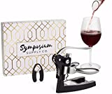 New Wine Bottle Opener Set by Symposium Supply - Rabbit-Style Corkscrew with Aerator - 5 Piece Stylish Gift Set For The Wine Lover