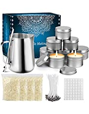 Tobeape DIY Candle Making Kit Supplies, Arts & Craft Tools Including Pouring Pot, Cotton Wicks, Candle Wicks Holder, Beeswax, Spoon & Candles tins