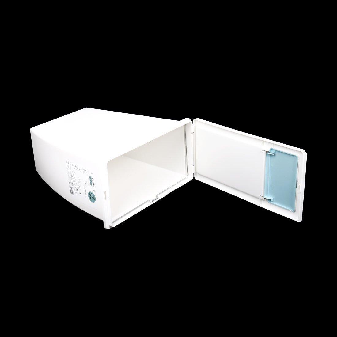 eDealMax plastica del salone Della casa dei rifiuti Spazzatura Garbage Holder Trash Can Organizer Bianco