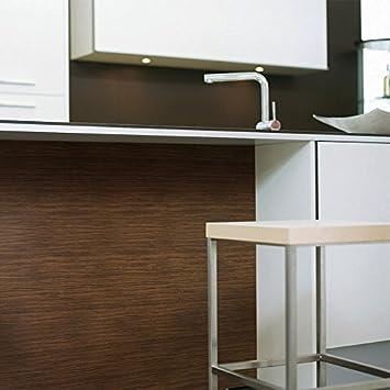Panel decorativo autoadhesivo WallFace 12441 WOOD MAKASSAR de diseño ébano con relieve marrón medio y oscuro 2,60 m2: Amazon.es: Bricolaje y herramientas