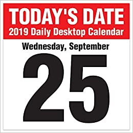 2019 Today's Date Daily Desk Calendar: TF Publishing