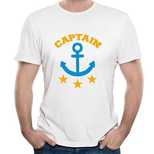 NOAC Men's Captain And Anchor Logo Basic Tshirt