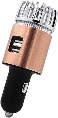 zkm 2 en 1 Coche Dual USB Purificador iónico de Aire Fresco Barra ...