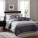 Madison Park MP10-2474 Bradford 7 Piece Comforter Set, California King, Grey