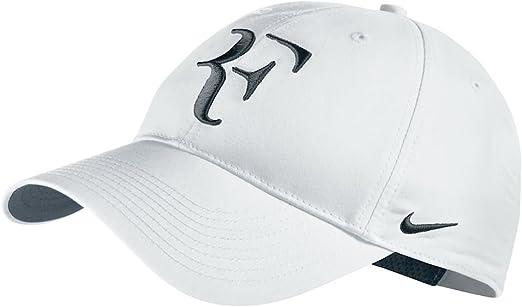 Andes zona Elegancia  Nike Roger Federer ATP Master Australian Wimbledon US Open RF Hybrid Hat  Cap White/Black: Amazon.co.uk: Garden & Outdoors