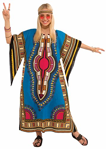 [Forum Novelties Women's Hippie Generation Dashiki Girl Costume, Multi, One Size] (Tie Dye Dress Costume)