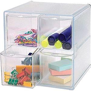 Business Source, BSN82977, 4-drawer Storage Organizer, 1 Each, Clear
