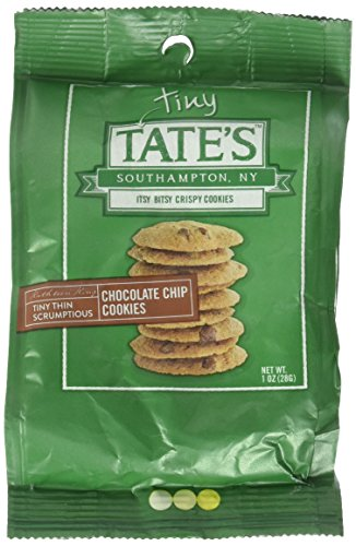 - Tate's Bake Shop - Tiny Tate's Bite Size Chocolate Chip Cookies (Each bag contains 10 -12 bite size cookies, Six 1oz Bags) Pack of 6