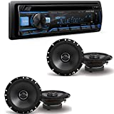 Alpine CDE-172BT 200W Advanced Bluetooth CD/USB/MP3 Car Audio Stereo Receiver/S-S65 S-Series 6.5-inch Coaxial 2-Way Speakers (2Pairs)