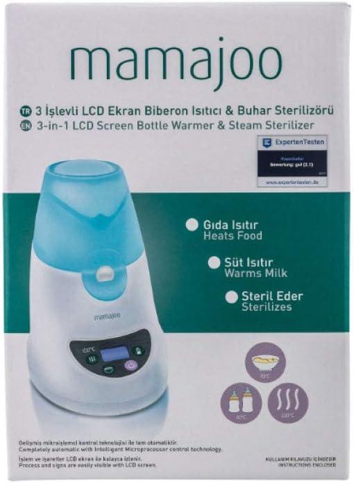 Mamajoo Bouteille 3 fonctions Mama chauffe st/érilisateur /à vapeur Produits pour b/éb/és Sans BPA pour nouveau-n/és