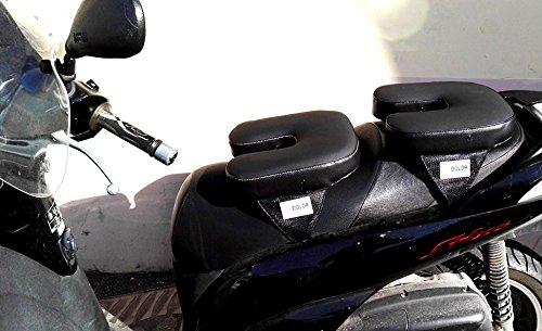 Cojín para sillín de moto y scooter, modelo pasajero: Amazon ...