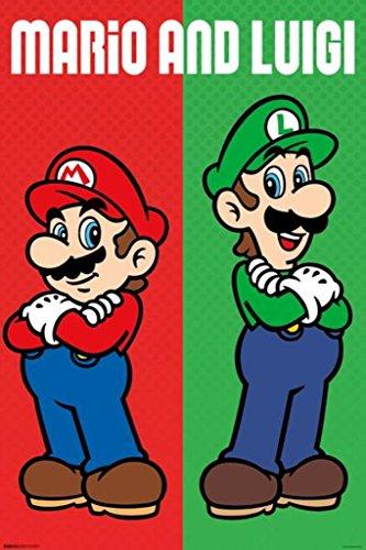 o & Luigi Video Gaming Poster 24x36 inch ()