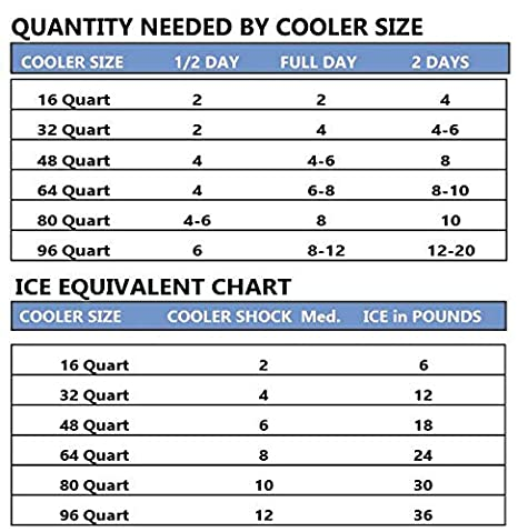 You Add Water /& Save No More Ice Cooler Shock 4 Mid Size Freeze Packs 10x 9 GenTap Shock-1//18F-Dry Reusable