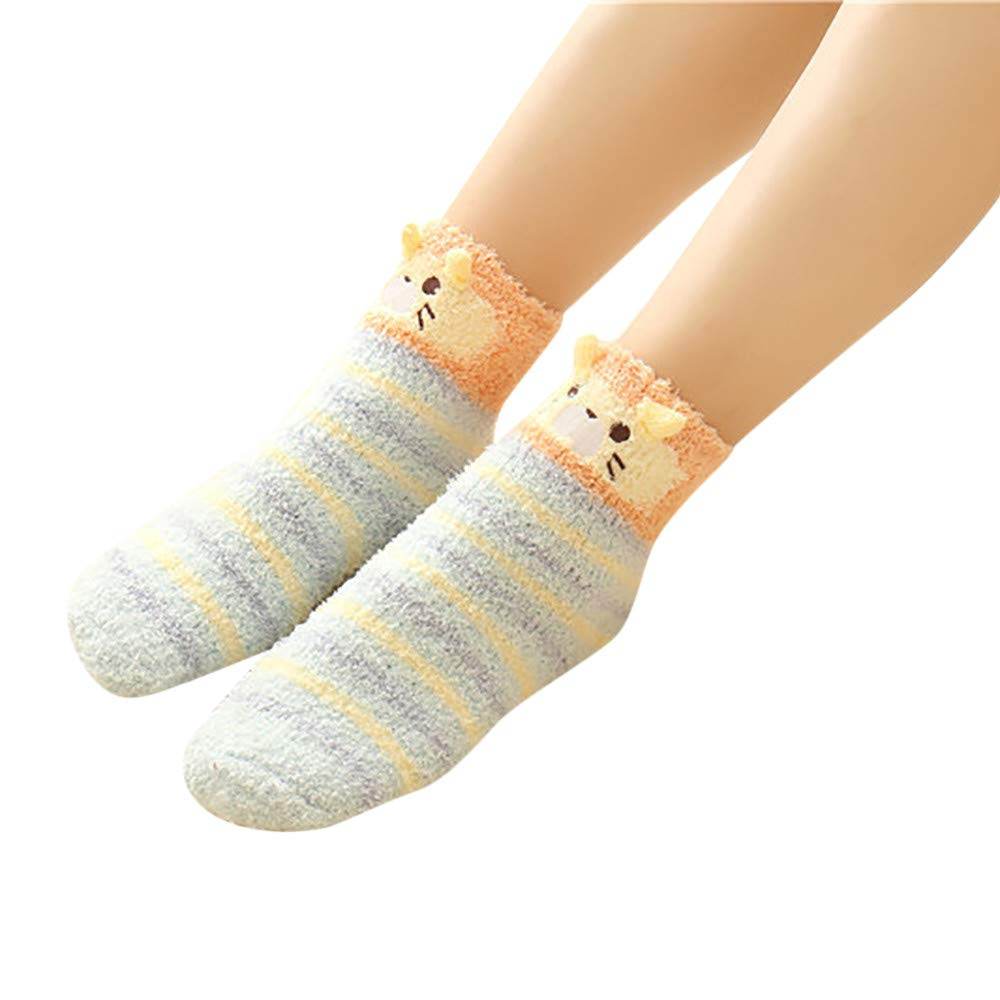 Clearance! Socks For Women Cotton,Christmas Socks Men Unisex Soft Fluffy Cosy Socks,
