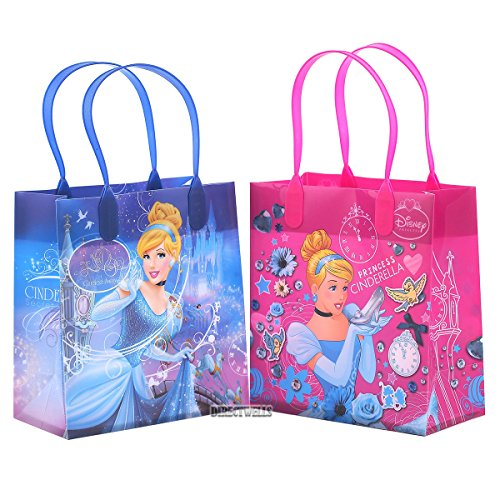 Disney Cinderella Authentic Licensed Reusable Party Favor Goodie Small Gift Bags 12]()
